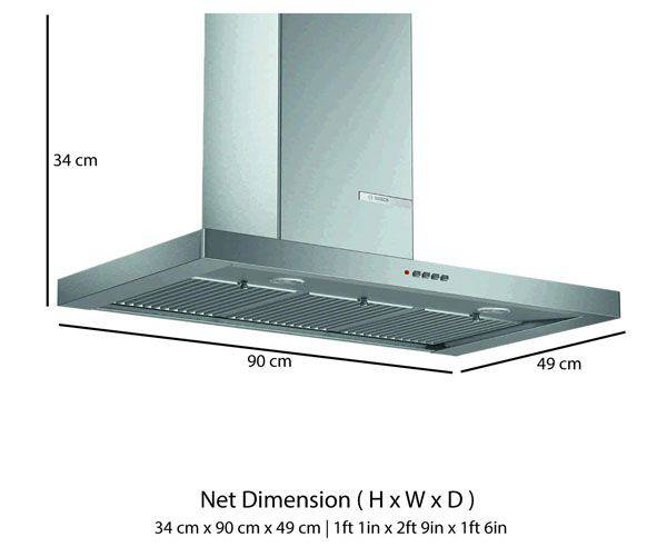 Best Kitchen Chimneys in India - Bosch 90cm Chimney (DWB098D501)