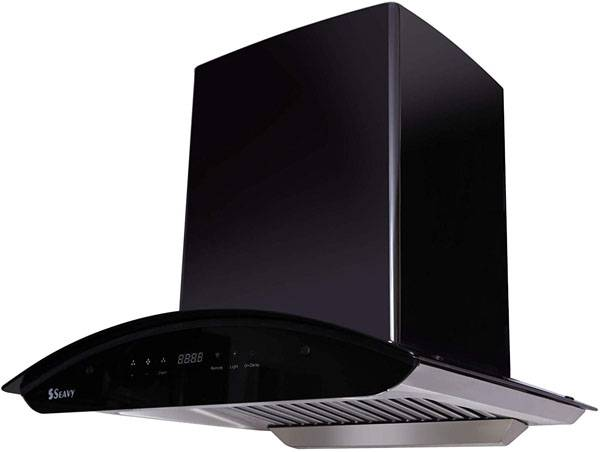 Seavy Ciaz Black Titanium Kitchen Chimney