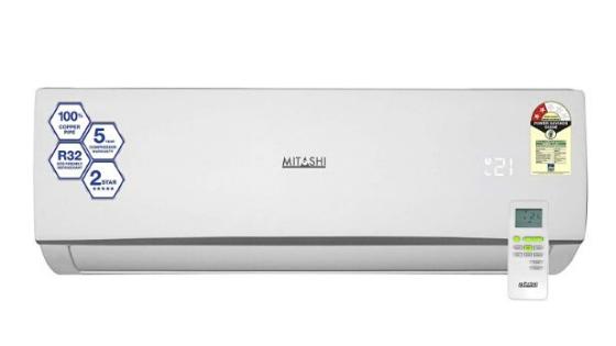 Best 1 Ton AC in India  - Mitashi 1-Ton 5 Star Inverter AC MiSAC105INv35