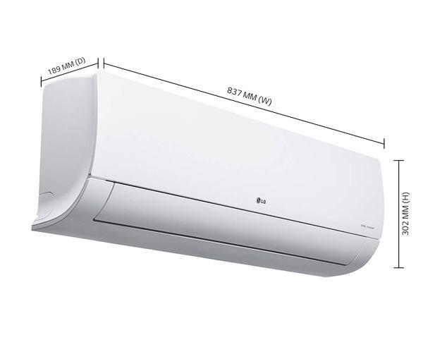 Best 1 Ton AC in India  - LG 1-Ton 5 Star Inverter Split AC KS-Q12YNZA