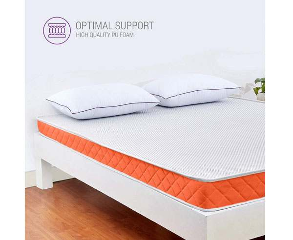 BEST MATTRESSES IN INDIA - SleepWell SleepX PU Brill Foam Mattress