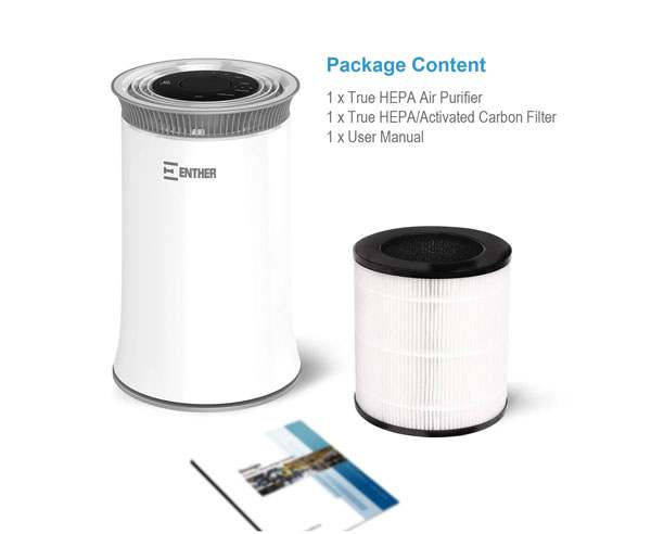Enther HEPA Air Purifier for Home