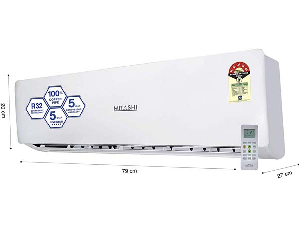 Mitashi MiSAC105INv35 - BEST INVERTER SPLIT AIR CONDITIONERS IN INDIA
