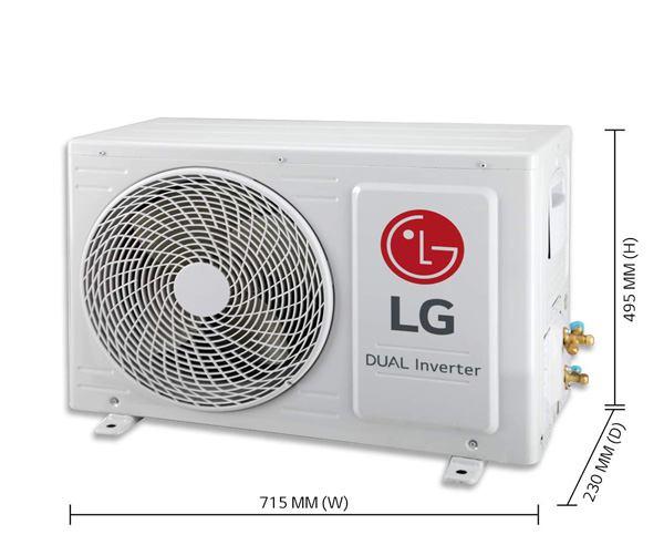 LG 1-Ton 3 Star Inverter Split AC KS-Q12YNXA