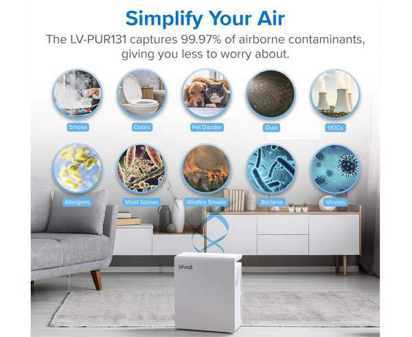 Best air purifier in India  - LEVOIT  LV  PUR131