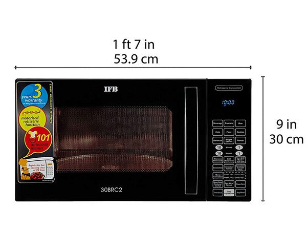 Best Microwave Oven in India  - IFB 30L CONVECTION MICROWAVE OVEN(30BRC2)