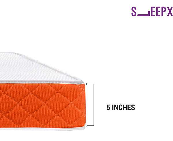 SleepWell SleepX PU Brill Foam Mattress