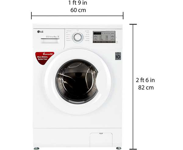 BEST FRONT LOAD WASHING MACHINES MACHINES IN INDIA - LG 6kg FH0H3NDNL02