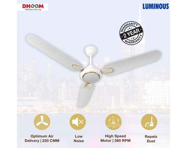 Best Ceiling Fan In India  - Luminous Dhoom