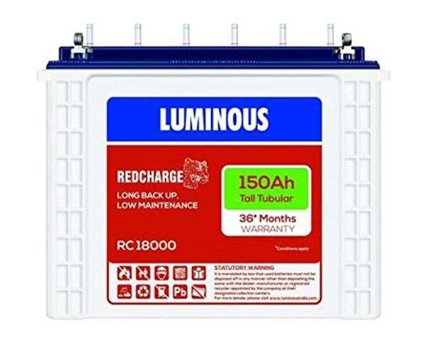 Luminous RC 18000 - best inverter battery
