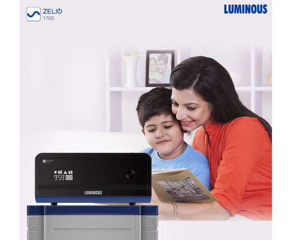 Best inverters in India  - Luminous Zelio+ 1700 Sine