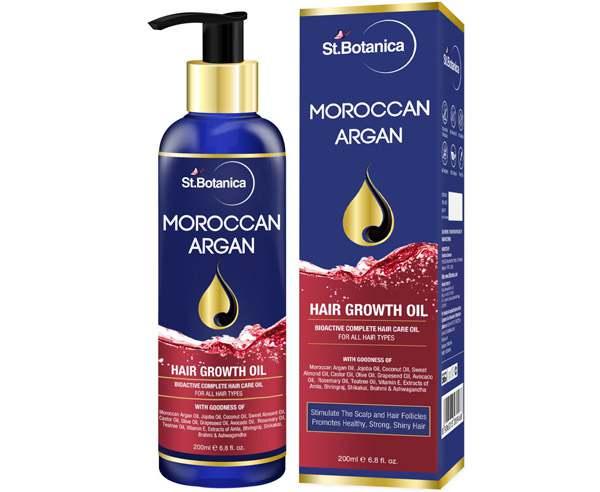 Best Hair Growth Oil - StBotanica Moroccan Argan